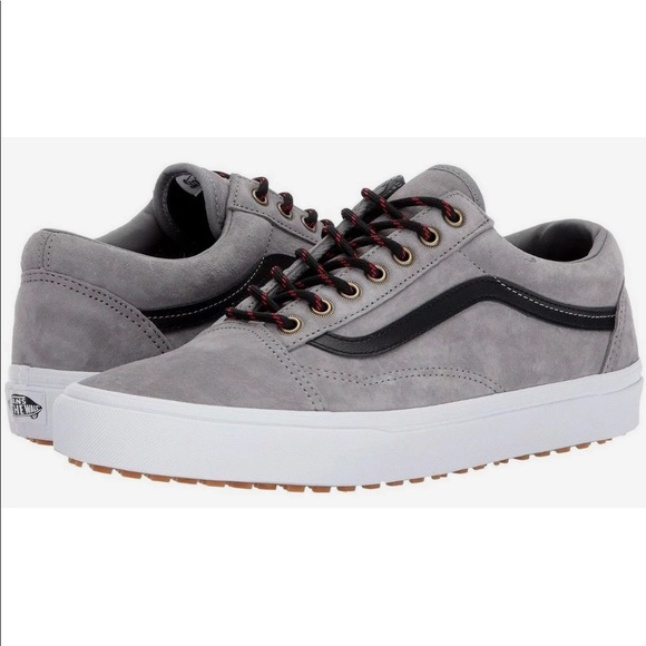 593b8bd707 Vans Men s Old Skool MTE Frost Gray White Shoes